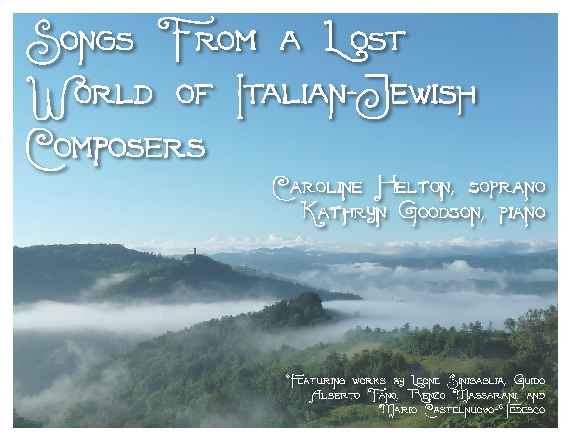 Songs from a Lost World of Italian Jewish Composers | Jan. 29 at Temple Beth El Maas Chapel
