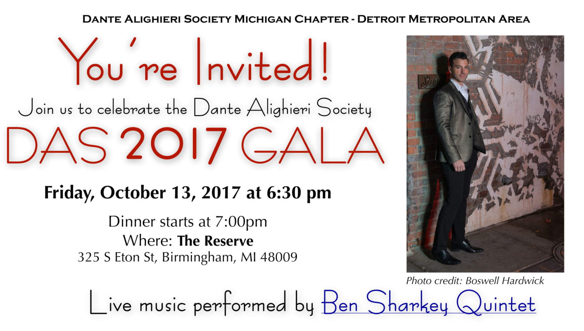DAS ANNUAL GALA  AND MEMBERS' CELEBRATION