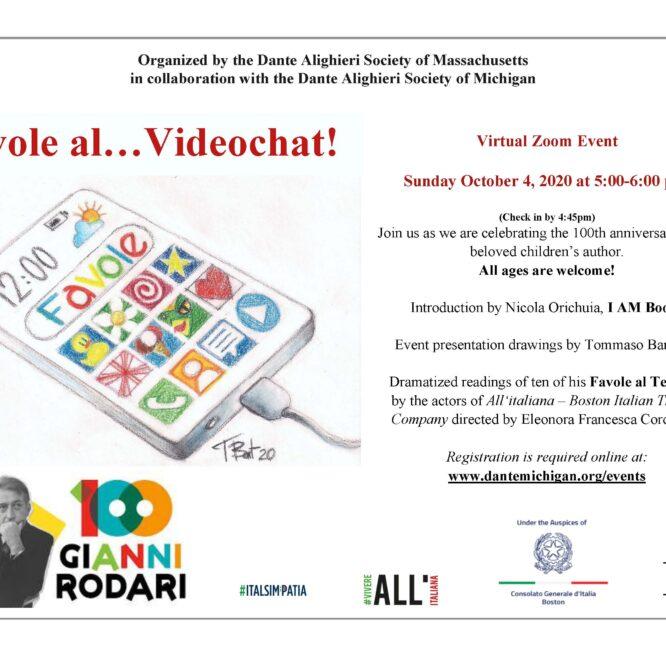 Favole al… Videochat! – Gianni Rodari 100th