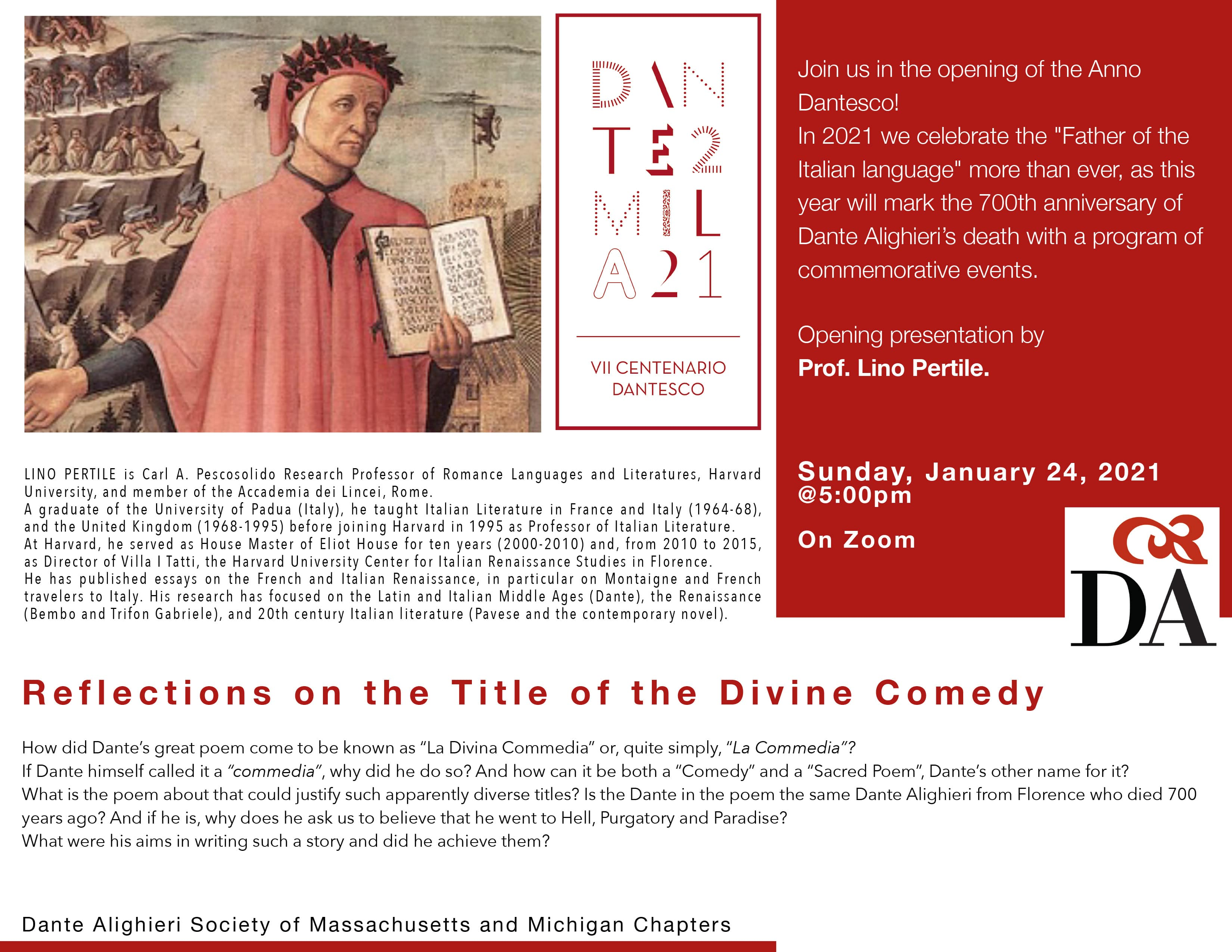 Reflections on the Title of the Divine Comedy